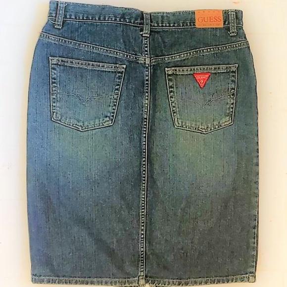 Guess Dresses & Skirts - GUESS BLUE DENIM SKIRT ESTABLISHED 1981 SIZE 28